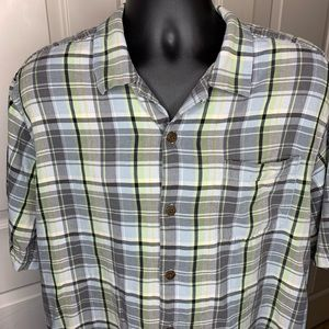 TOMMY BAHAMA Men's Silk Button Down Shirt Sz XL